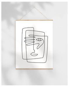 Abstract Line Art Printable Sketch, Face Illustration Art Print, One Line Drawing Original Artwork, Digital Beauty Illustration, Illustration Art Dessin, Halloween Illustration, Watercolor Illustration, Digital Illustration, Animal Illustrations, Fantasy Illustration, Illustrations Posters, Clamp Manga