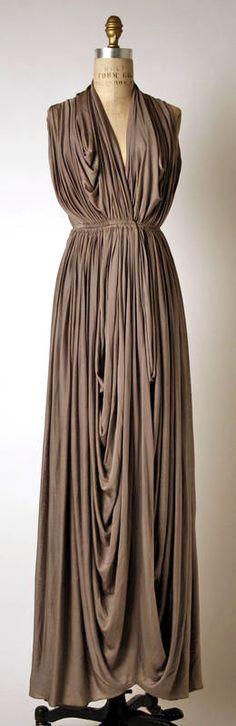 Grès Silk Dress - 1937 - by Madame (Alix) Grès (French, 1903 -1994) - @~ Watsonette
