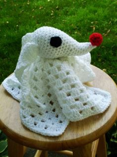 2015 Handmade Halloween Nightmare Before Christmas Crochet - Zero Lovey - LoveItSoMuch.com