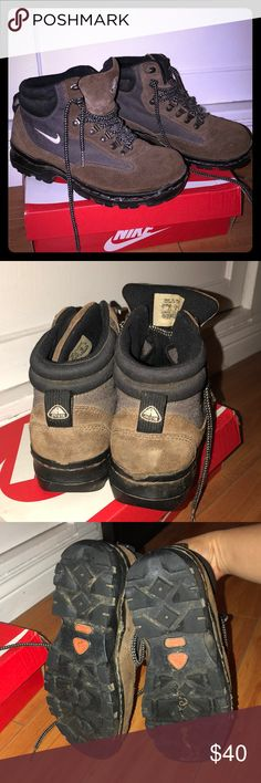 Nike Hiking boots Bought from another posher a year ago. Pictures show wear. Nike Shoes Winter & Rain Boots