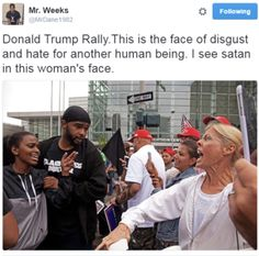 Look at the hate & rage on the face of this female Trump whore, as she sees Black Lives Matter people. We Are The World, In This World, Bernie Sanders, Johnlock, Destiel, Memes Do Brasil, Donald Trump, All That Matters, Intersectional Feminism