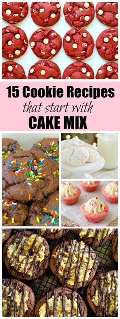15 Cookie Recipes that Start with a Cake Mix- easy!