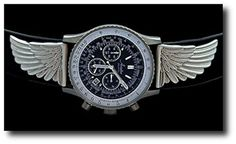 New Aviator Unlimited Ventura Mens Pilot Chronograph Watch w Winged Accents -- You can get more details by clicking on the image.