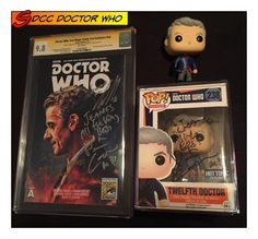 So my CGC Signature Series books from San Diego Comic Con 2015 came in this week! I'm so happy to have this book in my collection, signed by Peter Capaldi, Jenna Coleman (@jennalouisecoleman) and Michelle Gomez, the cast of Doctor Who!  Plus the Hot Topic Exclusive Twelfth Doctor with Spoon signed by Peter and Jenna  #sandiegocomiccon #sdcc2015 #sdcc #doctorwho #titancomics #sdccexclusive #signed #cgcsignatureseries #petercapaldi #jennacoleman #michellegomez #thedoctor