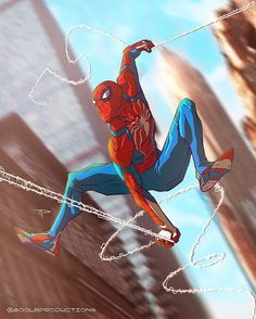 """Insomniac Game Spider-Man - Michael 'Gorilla' Pasquale (@800lbproductions) on Instagram: """"Sunday morning drawing, I just really love @insomniacgames #SpiderMan design Is there a release…"""""""