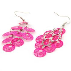 Colorful Light Copper Delicate Earrings For Woman Who Want Keep Step with Fashion Trends