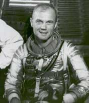 John Glenn became the first American to orbit the Earth (3 times round).