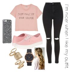 """""""Untitled #10"""" by starry-night2021 ❤ liked on Polyvore featuring Monki, Topshop, Vans and Marc Jacobs"""