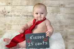 Infant Valentines Day Photography