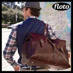 Floto Lugano Leather Duffle Bag - http://www.flotoimports.com/LuganoDuffle.html