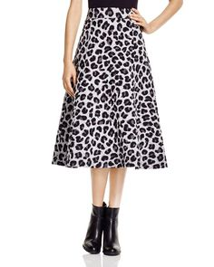 Dkny Quilted Leopard Print Midi Skirt - 100% Bloomingdale's Exclusive