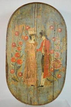 Antique Pine Hand Painted Bride Box c.1850 Lot 155    eBay