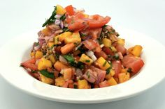 Super Easy to Make Tropical Salsa Recipe - Perfect for Summertime Entertaining! Serve with Tortilla Chips!