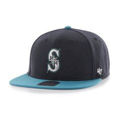 timeless design dcbe6 b95a3 Seattle Mariners Lil Shot Two Tone Captain Navy 47 Brand YOUTH Hat