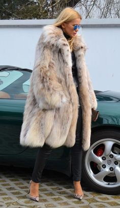 Swinger Lynx FUR Coat Cites Like Chinchilla Royal Mink FOX Sable Luchs Jacket | eBay