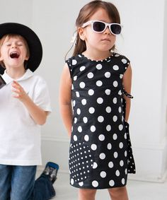 Black Polka Dot Little Amber Dress//