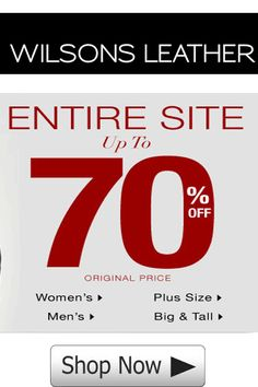 Wilsons Leather Promo Code: Save Up to 70% Off Sitewide!
