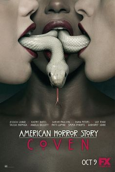 American Horror Story: Coven on DVD from Century Fox. Staring Taissa Farmiga, Gabourey Sidibe, Evan Peters and Emma Roberts. More Affairs & Love Triangles, Fantasy and Historical / Period Piece DVDs available @ DVD Empire. American Horror Story Coven, American Story, Ahs, Voodoo, Critique Cinema, 20th Century Fox, Dylan Mcdermott, Connie Britton, Anthology Series