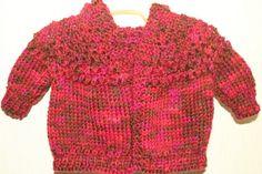 HandKnit Hoodie Baby Sweater Newborn to 6 months by BlissfulFiber, $16.50