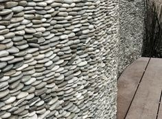 Image result for stone pebble reception desk
