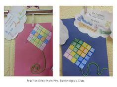 Saddle Up for 2nd Grade made these fraction kites... that's a freebie at my class website!