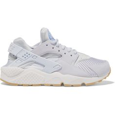 Nike Air Huarache Run suede, mesh and rubber sneakers, Women's, Size:... ($135) ❤ liked on Polyvore featuring shoes, athletic shoes, suede leather shoes, nike shoes, rubber footwear, nike footwear and stretchy shoes