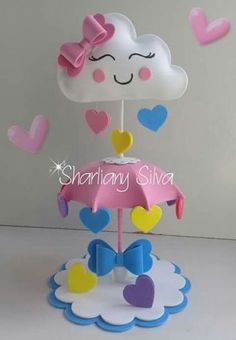 Ideas For Baby Shower Decoracion Arcoiris Cloud Party, Foam Crafts, Diy And Crafts, Crafts For Kids, Shower Bebe, Baby Boy Shower, Baby Shower Centerpieces, Baby Shower Decorations, Baby Shawer