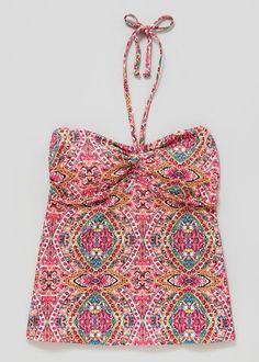 Paisley Printed Halterneck Swimsuit