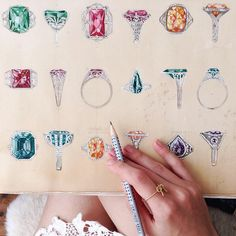 Candy-colored jewelry sketches #EBTH #inspiration