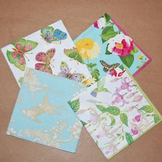 Decoupage Birds and Bees Set - 4 Paper Napkins for Decoupage, Collage, Scrapbooking and Paper Craft Projects on Etsy, $3.00