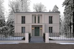 contemporary neoclassical architecture home - Google Search