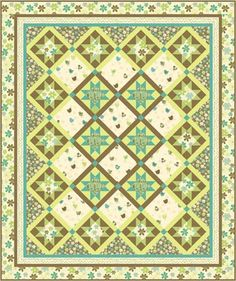 Pattern for Emma Lime Twist available at www.piecefulquilter.com