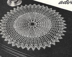 Tatting Doily Pattern Vintage Pattern 1960s by TheFoundBox