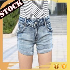 deb70f1071 J63521#Stock 2017 latest fashion top design hot sexy girls shorts ripped hem  cuff embroidery high waist diamond trimmings