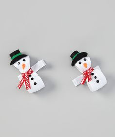 Take a look at this White Snowman Clip Set on zulily today!