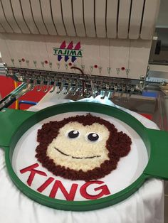 Special embroidery made with #Tajima #Multicording Device at #Malaysia Gifts Expo 2016 #embroiderymachine
