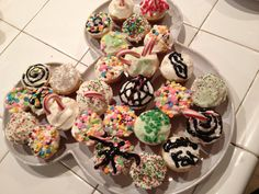 Crazy cupcakes made by the kids.