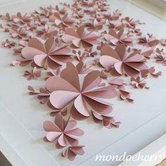 Bekijk de foto van nancyalkemade met als titel bloemen schilderij van dubbel gevouwen hartjes en andere inspirerende plaatjes op Welke.nl.