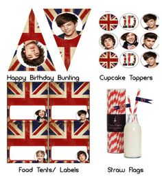 ONE DIRECTION PARTY IDEAS | Mini Party Pack 1D One direction birthday party by ... | Party Ideas