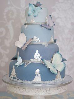 """Nancy Blue Wedding Cake"" by The Liggy's Cake Company the best wedding cake…"
