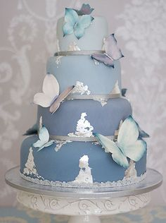 Very nice butterfly wedding cake design from The Liggy's Cake Company.