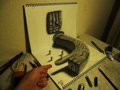 3D sketchbooks by Nagai Hideyuki
