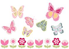 free printable buterfly banner 7