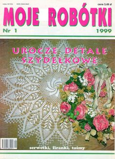 "Photo from album ""Moje robotki on Yandex. Crochet Book Cover, Crochet Books, Thread Crochet, Lace Doilies, Crochet Doilies, Crochet Lace, Knitting Magazine, Crochet Magazine, Crochet Chart"