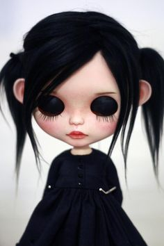Your place to buy and sell all things handmade Halloween Doll, Cute Halloween, Rabe Tattoo, Creepy Baby Dolls, Girls With Black Hair, Zombie Girl, Gothic Dolls, Bear Doll, Doll Repaint