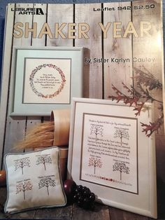 Shaker Year Leisure Arts Cross Stitch Patterns Sister Karlyn Cayley Poems Nature | eBay