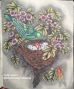 Coloured By Carly Argent. Book: Dagdrömmar Artist: Hanna Karlzon Mediums: Prismas, panpastels and lots of White Posca pen