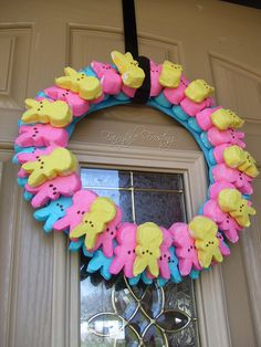Marshmallow peep wreath