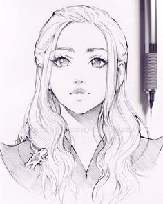 Asia Ladowska, art, face drawing, girl sketch