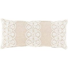 Pine Cone Hill French Knot Natural Double Boudoir Pillow